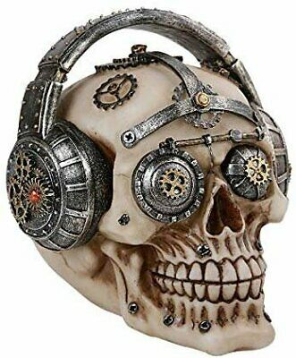 Pacific Giftware Steampunk Gear Skull with Headphones Home Tabletop...