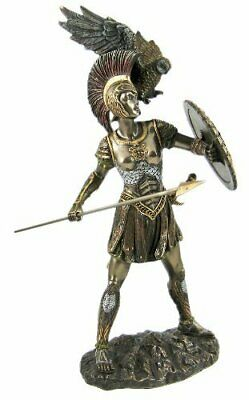 Athena Greek Goddess Bronzed Statue Sculpture Minerva