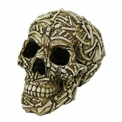 Pacific Giftware Ossuary Bone Skull Home Tabletop Decorative Resin Figurine