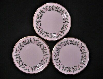 "LENOX Fine China HOLIDAY Dimension Pattern  3-SALAD PLATES  8 1/8""  1st Quality"