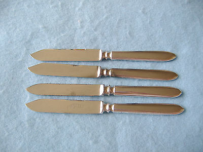 Vintage 1847 Rogers Bros-R.wallace & Sons Silverplate Fruit Knives-Set Of 4