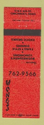 Matchbook Cover - Wong's Chinese Restaurant Cincinnati OH