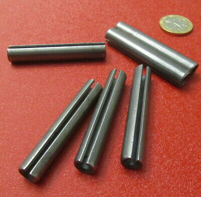 """Steel Slotted Spring Pin, 3/8"""" Dia x 2.25"""" Length, 25 pcs"""
