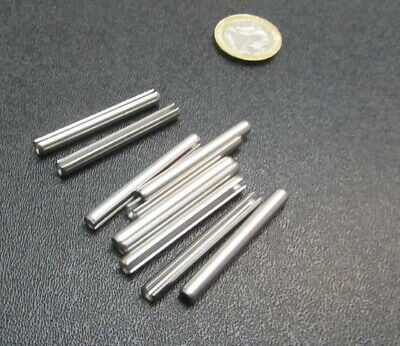 18-8 Stainless Steel Slotted Metric Spring Pin M4 Dia x 40 mm Length, 30 pcs