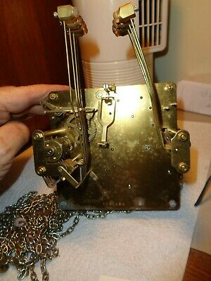 Vintage-Used-Urgos-Westminter Chime Clock Movement-UW320688-To Restore--#T839