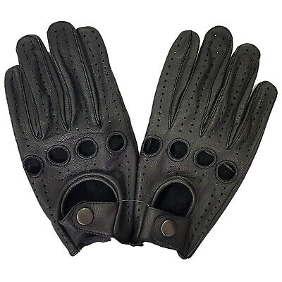 Handmade Soft Real Genuine Leather Full Fingers Driving Gloves Premium Quality