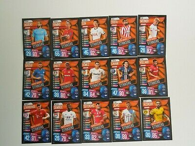 Topps Match Attax Champions League 2019 2020 -  alle 15 Super Boost Strikers