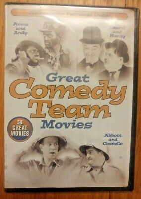 The Great Comedy Team Movies Sealed DVD Abbott & Costello Laural&Hardy Amos&Andy