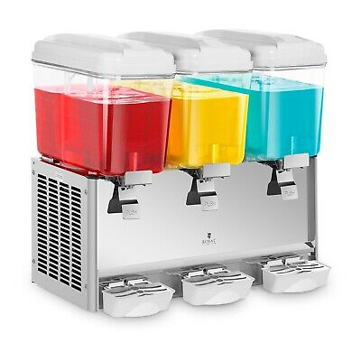 Juice Dispenser Commercial Cold Beverages Dispenser Lemonade 3 Tanks Jet Spray