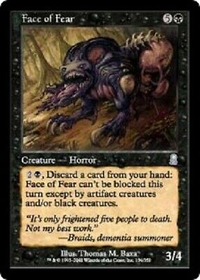 Face of Fear x4 VLP-LP Magic the Gathering MTG Odyssey, # 134