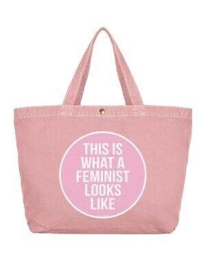 Canvas Shopper Bag This Is What A Feminist Looks Like Large Bag