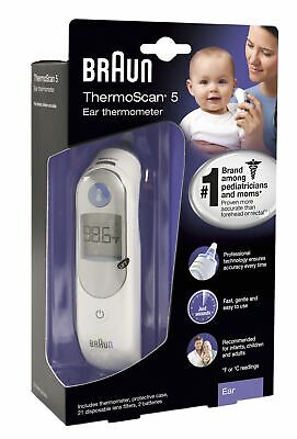 Braun Digital Ear Thermometer, ThermoScan 5 IRT6500, Ear Thermometer for Babie..