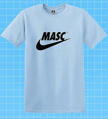 Masc Swoosh New T-shirt Big Print Gay LGBT Sport Parody Tee Pride Gym Man