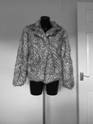 Girls M&S Fake Fur Jacket Age 13 To 14