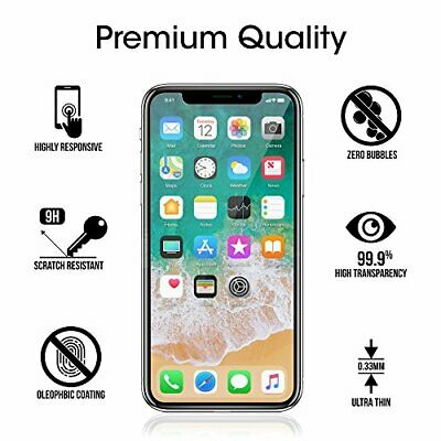 Screen Protector For Apple iPhone X -Tempered Glass 100% Genuine!