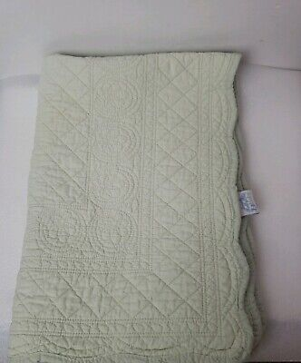 simply shabby chic  quilt patchwork baby light green  BLANKET.