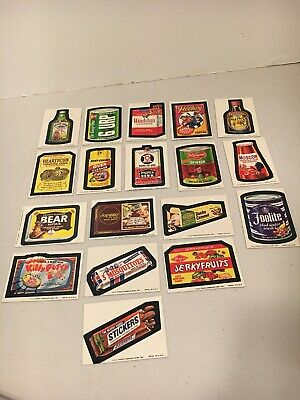 1974 Wacky Packages Series 9 Lot Of 18. Mixed-Grade