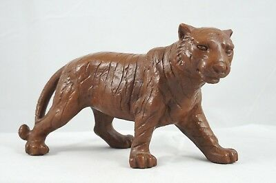 Rare RED MILL Tiger 1991 Crushed Pecan / Resin Figurine #322