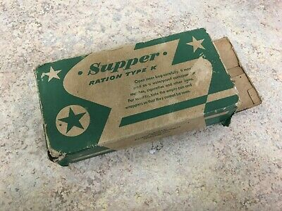 Original Ww2 Us Army Type K Supper Ration