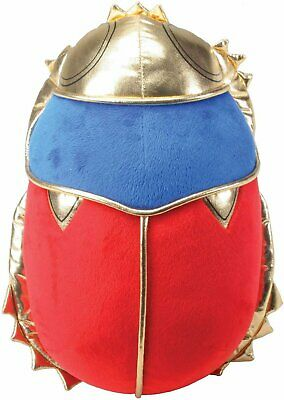 Red Blue and Gold Ancient Egyptian Scarab Beetle Plush Doll