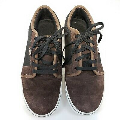Vox Skate Brown Black Canvas Suede Shoes Skateboarding Size 10.5 Mens 12 Womens