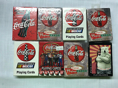 8 Coca Cola Bicycle Playing Cards - Sealed - 5 different ones