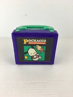 Vintage 1995 Sanrio Pochacco Mini Stationary Trinket Storage Box Case Purple