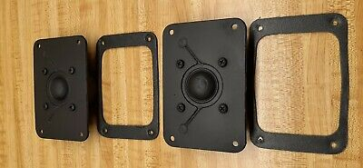 """VINTAGE 1970's KLH RESEARCH TEN SCX-A, 1"""" DOME TWEETERS"""