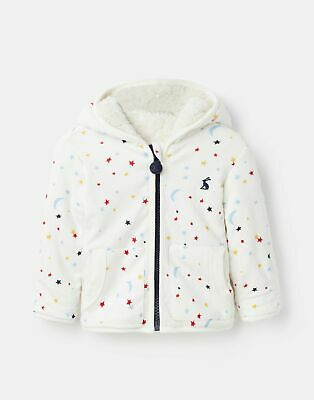 Joules 207246 Reversible Fleece in Cream STAR MOON