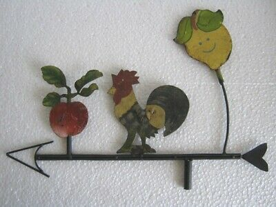 Iron Rooster With Fruits Weather Vane / Weathervane .