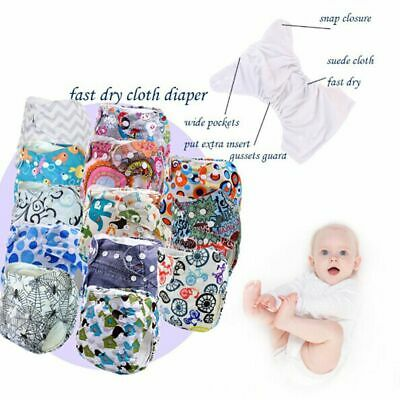 Cute Reusable Kids Newborn Baby Nappy Adjustable Cloth Diapers Cover Washable