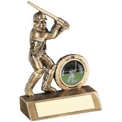 Mini Cricket Batsman Trophy Award Bronze Gold 4in FREE Engraving