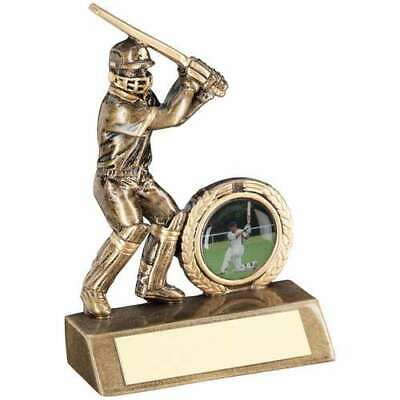 Cricket Batsman Trophy 5.5in Bronze Award Gold Mini Cup FREE Engraving
