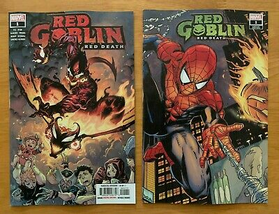 RED GOBLIN RED DEATH 1 Tan Main Cover A + Wraparound Var Marvel 2019 NM+ 10/30