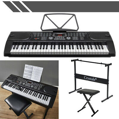 Keyboard Bundle 61 Keys 4 Different Keyboards With Stand Chair Accessorie