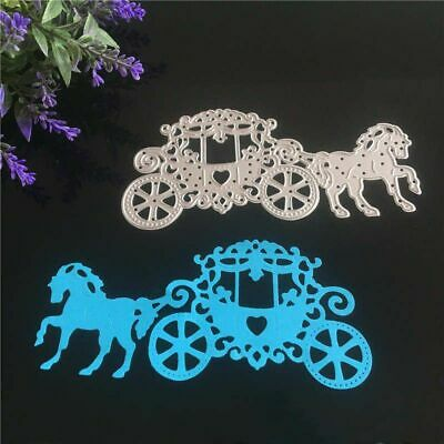 Carriage with Horse Metal Steel Cutting Dies Stencil for DIY Scrapbook Embossing