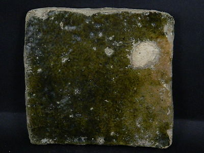 Ancient Glazed Tile Islamic 1000 AD No Reserve #TR15170