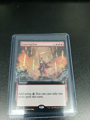 1x Irencrag Feat FOIL- Extended art - Throne of Eldraine - MTG