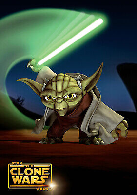 """STAR WARS THE CLONE WARS 11""""x17"""" TV SEIRES POSTER PRINT #5"""
