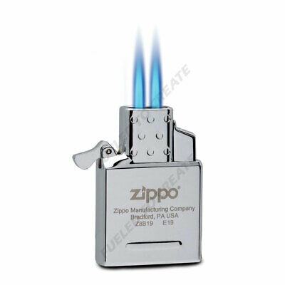 Zippo butane insert dual two blue torch lighter