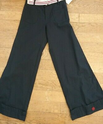 WHOOPI girls navy flared  Trousers Size 140 bnwt