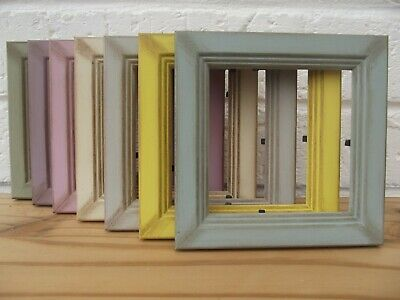 """Picture Frame/Photo Frame/Shabby Chic/Retro/4""""x4""""/Choice 7 Vintage Colours/Pine"""