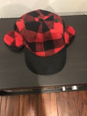 Urban Pipeline Red Buffalo Plaid Ear Flap Trapper Cap Hat Hunting Size S//M NEW