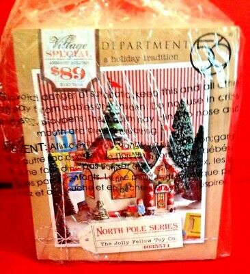 Department 56 North Pole Village Jolly Fellow Toy Lit House 7.88 inch 4035571