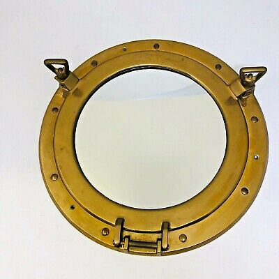 Vintage Style 11 3/4 Dia Porthole Mirror Nautical Wall Mount Round Small
