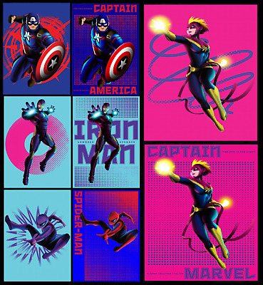 TOPPS MARVEL COLLECT CARD TRADER SHAPE OF A HERO Wave 2 ICONS+DOT ART [8 CARDS]