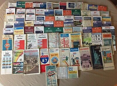Lot of 80 Vintage Road Travel Maps 1970s-90s Rand McNally AAA & More - 8 Lbs