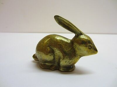 Vtg Brass Rabbit Bunny  Figurine Statue Metal Art Cute