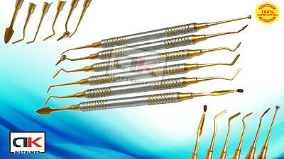 Dental Composite Filling Instruments Titanium Coated Restorative Kit 6 Pcs CE