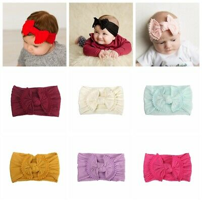 hair band le coton arc noeud ruban élastique fille turban bébé nylon bandeau
